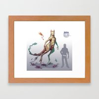 Pokemon-Mewtwo Framed Art Print