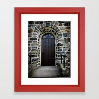 Church Door - Raelingen,… Framed Art Print
