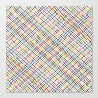 Rainbow Weave 45 Canvas Print