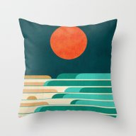 Chasing Wave Under The R… Throw Pillow