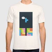 Tetris Mens Fitted Tee Natural SMALL