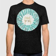 Treat Yo Self – Gold &… Mens Fitted Tee Tri-Black SMALL