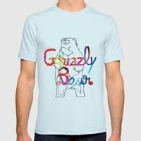 Grizzly Bear Mens Fitted Tee Light Blue SMALL