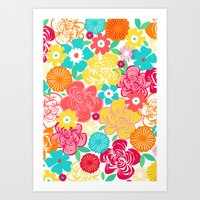 Big Summer Floral Art Print