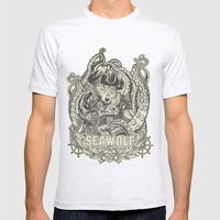 SeaWolf Mens Fitted Tee Ash Grey SMALL