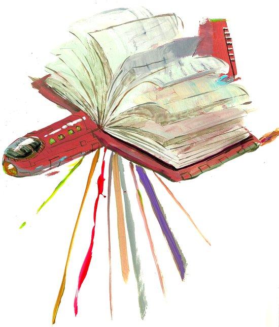 Bookplane Art Print