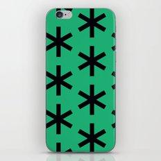 Vondel Black on Green Pattern iPhone & iPod Skin