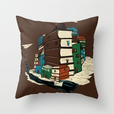 Book City Throw Pillow