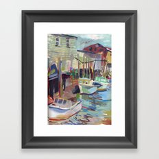 Portland Harbor Framed Art Print