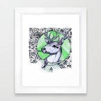 Deer In Dress Code  Framed Art Print