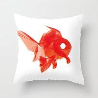 Moirè Goldfish Throw Pillow