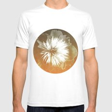 peony III White Mens Fitted Tee SMALL