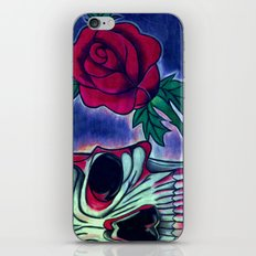 Skull & Red Rose iPhone & iPod Skin