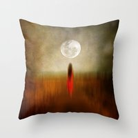 Woman In Red. By Vivian… Throw Pillow