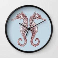 Seahorses Wall Clock