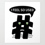 Art Print featuring Hashtag by Mailboxdisco