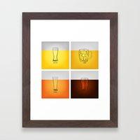 Golden Nectar Framed Art Print