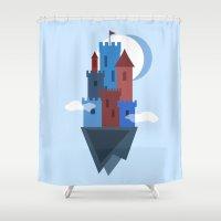 Sky Castle Shower Curtain