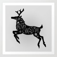 Merry Christmas Art Print