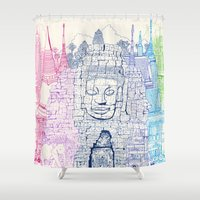 Angkor Wat & Thailand Shower Curtain