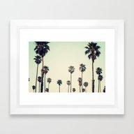 Framed Art Print featuring California  by Bree Madden
