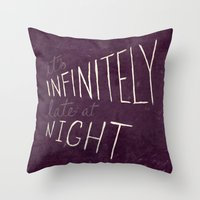 Infinitely Late at Night Throw Pillow