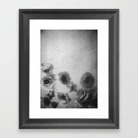 Falling Flowers Variation 1 Framed Art Print