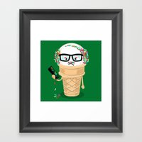 Ice Cream Coneover (Holiday Edition) Framed Art Print