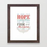 Hope as an Anchor Framed Art Print