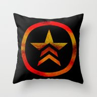 Throw Pillow featuring Mass Effect Renegade by Foreverwars
