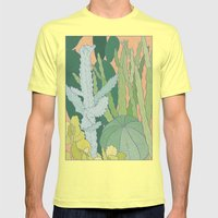 Cacti Mens Fitted Tee Lemon SMALL