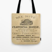 Vintage Bee Hive Tote Bag