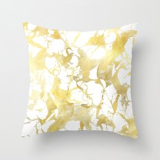 Marble gold Throw Pillow