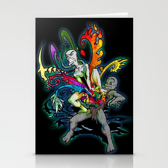 The Creativity Inside (Black) Stationery Card