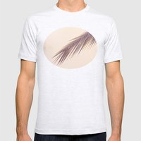 Palm Leaf Mens Fitted Tee Ash Grey SMALL
