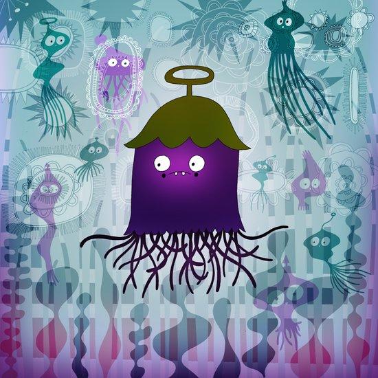 underwater eggplant Art Print