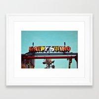 happy swing Framed Art Print