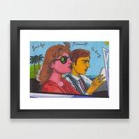 Goodbye Little Boy Framed Art Print