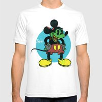unDEADmouse Mens Fitted Tee White SMALL