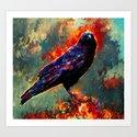 three eyed crow Art Print