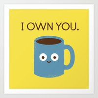 bunny Art Prints featuring Coffee Talk by David Olenick