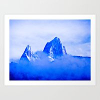 Two Mountains. Art Print