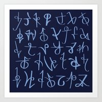 Runes Art Print