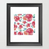 Pastel Spring Flowers Wa… Framed Art Print