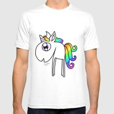 UNICORN White Mens Fitted Tee SMALL