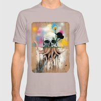 Skull Roots Mens Fitted Tee Cinder SMALL