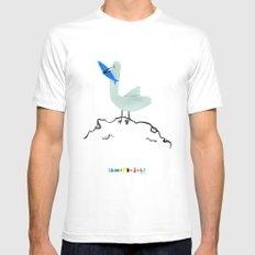 Gavina Seagull White Mens Fitted Tee SMALL
