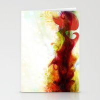 Abstract Splats By Frizt… Stationery Cards