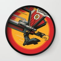 Laser Beak - Starscreami… Wall Clock