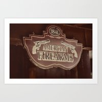 American Firearms Art Print